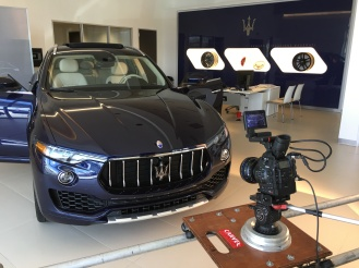 Helfman Maserati TV Shoot