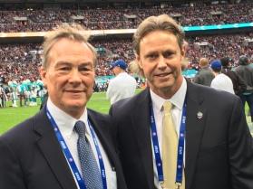 RhinoUK - Nick Priestnall with Thomas Hensey at the NFL game in London