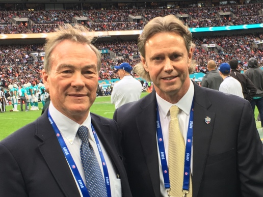 RhinoUK - Nick Priestnall with Thomas Hensey at the NFL game in London