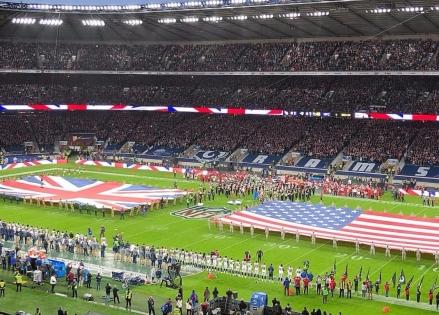 NFL game at Twickenham Stadium in London