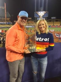 Brian Dubiski with the Astros' Stephanie Stegall #AstrosProud #EarnedHistory