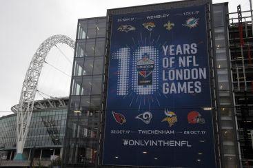 Celebrating 10 years of regular season NFL games in London #RhinoUK