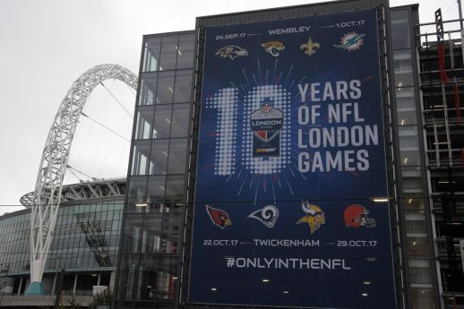 Celebrating 10 years of regular season NFL games in London #RhinoUK