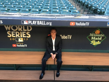 Thomas Hensey with the World Champion Houston Astros