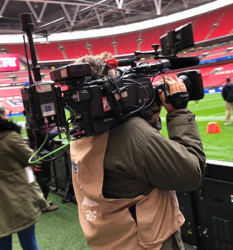 Sideline at the Raiders vs Seahawks game in London