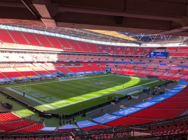 A look inside Wembley Stadium in London before the British fans watch the Chargers take on the Titans 🇺🇸🇬🇧