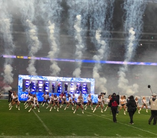 Halftime show at Raiders vs Seahawks game in London
