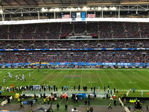 Proud to be a part of another sellout and amazing NFL game in London at Wembley Stadium as the Chargers held off the Titans #RhinoUK